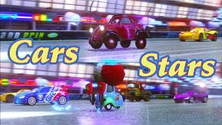 In this video with Guido from Cars 2 : the Video Game, we play a battle race versus uncle Topolino in 2 player split screen.