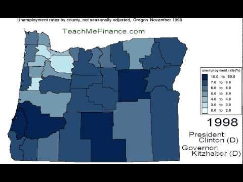 Oregon Unemployment Map