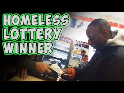 A Homeless Man's Reaction to Winning the Lottery Will Leave You In Tears, humanity, homeless, lottery, lottery ticket, good deeds
