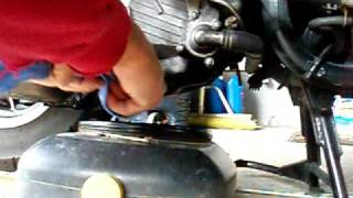 8. Honda CN250 Helix  Oil Change