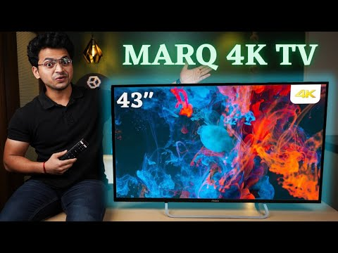 MarQ 43 inch 4K UHD Smart Android TV Unboxing | Best Budget 4K TV 🔥