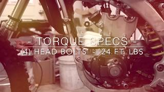 8. 2014 - 2018 YZ250f Top End rebuild & torque specs