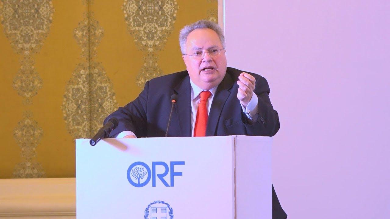 Ομιλία του ΥΠΕΞ Ν. Κοτζιά στη δεξαμενή σκέψης Observer Research Foundation (ORF) στο Ν. Δελχί