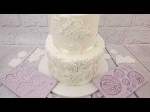 """love In Bloom"" White Floral Wedding Cake"