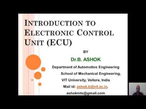 Electronic control unit (ECU)