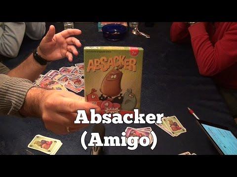 Test Absacker (Amigo Spiele): Rezension und Beispielrunde von Spiele-Podcast.de