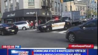 Dominicana atacó a martillazos yipeta perdió custodia de sus niños