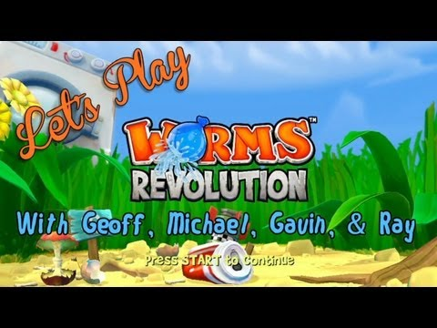 worms - The lads are finally back as Geoff, Michael, Gavin, & Ray once again fight for supremacy in Worms Revolution for the Xbox Live Arcade. Clearly they've been p...