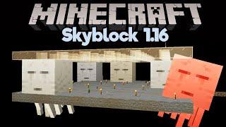 Skyblock Ghast Tear Farm! • Minecraft 1.16 Skyblock (Tutorial Let's Play) [Part 22]