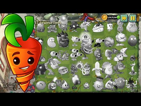 PvZ 2 Survival - 999 Insiver Carrot & All Plants Vs 99999 Zombies - Who Will Win?