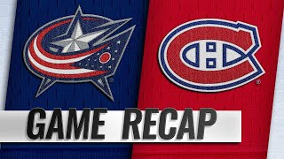 Canadiens top Blue Jackets on Tatar's goal by NHL