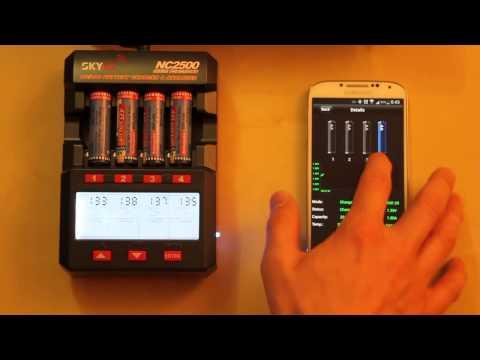 Видео Зарядное устройство SkyRC NC2500 с Bluetooth