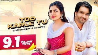 Video Tod Karle (Full Video) | Surender Romio | Anu Kadyan | Latest New Haryanvi Song Haryanavi Songs 2020 download in MP3, 3GP, MP4, WEBM, AVI, FLV January 2017