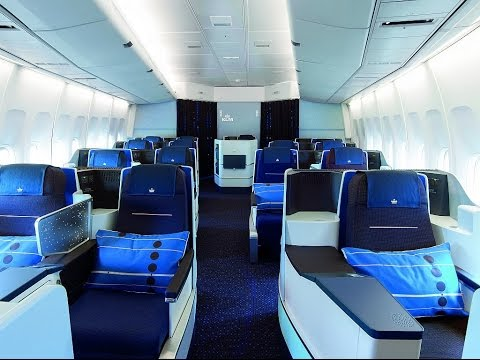 KLM NEW WORLD BUSINESS CLASS | NEW YORK-AMSTERDAM | B747