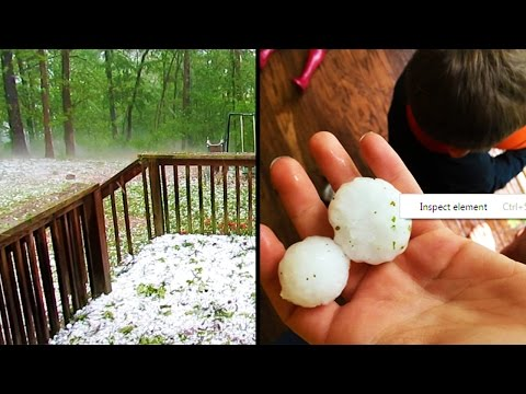 CRAZY HAILSTORM LIVE! Golf Ball Size Hail! (Storm Vlog)