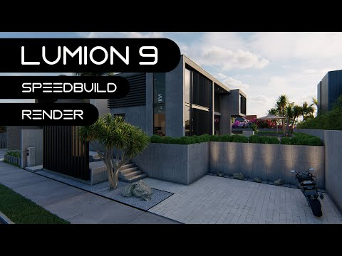 LUMION 9 Pro Modern Contemporary House Render