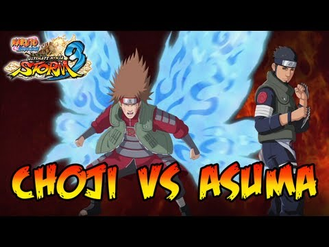 Naruto Shippuden Ultimate Ninja Storm 3 - X360 / PS3 - Great ninja War Choji VS Asuma (Reanimation)