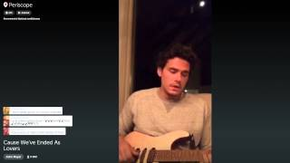 Video John Mayer on Periscope plays a super chill Slow Dancing In A Burning Room 9/8/15 MP3, 3GP, MP4, WEBM, AVI, FLV Mei 2018