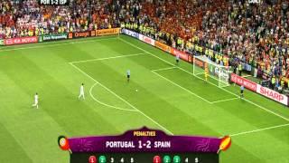 EM 2012: Spanien besiegt Portugal nach dramatischen Elfmeterschießen