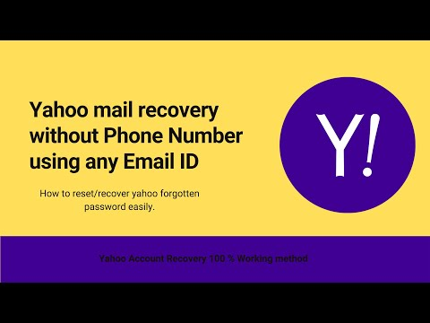 Yahoo Mail Password  Recovery without Phone Number|Using Alternate Email Id