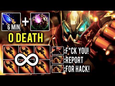 UNLIMITED HOOKSHOT Clockwerk WTF 6 MIN Scepter Non-Stop Hook 0 Death Crazy Game 7.12 Meta Dota 2
