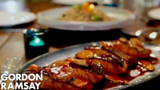 Teriyaki Salmon with Soba Noodle Salad | Gordon Ramsay by Gordon Ramsay