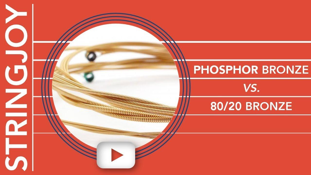 Phosphor Bronze vs 80/20 Bronze Acoustic Guitar Strings