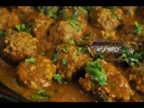 Chicken Kofta (Meatballs) Curry Indian Recipe