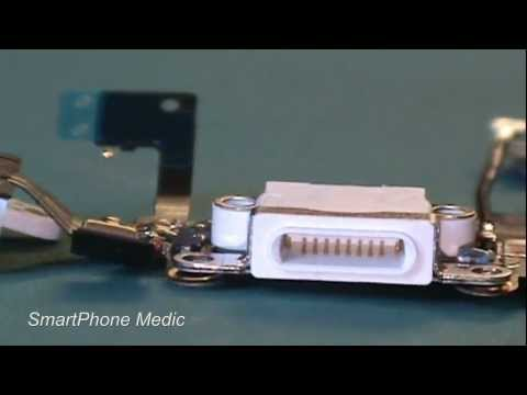 iphone 5 components - In this video we will show you the black and white glass panel, 8-pin dock connector flex cable assembly, and two other flex cables for the iPhone 5. Will Ap...