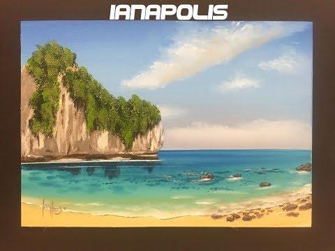 "#220 How to paint a Thai beach scene ""Beginners"""