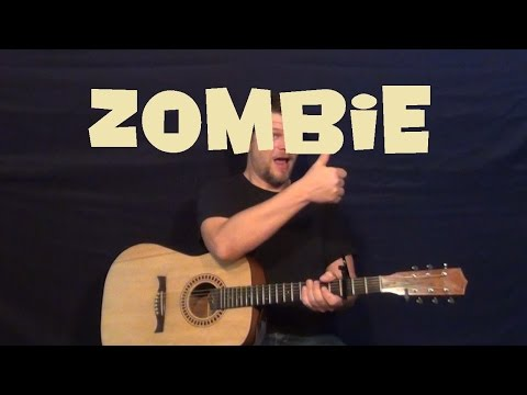 Zombie (The Cranberries) Guitar Lesson Easy Strum Beginner – How to Play Guitar
