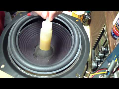 Refoaming the Pioneer HPM 700 Graphite woofers