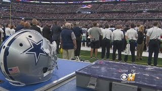 Video National Anthem Protests Unseen At Cowboys Season Opener MP3, 3GP, MP4, WEBM, AVI, FLV Oktober 2017