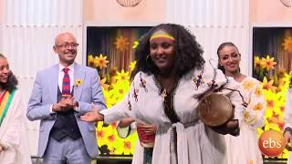አበባየሆሽ በደመቀ ጭፈራ ከእሁድን በኢቢኤስ /Ehuden Be EBS AbebaYehosh 2012