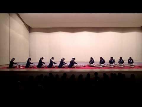 20140119,箱崎清松中学校1年生(箏)「雪花」「あこがれ」