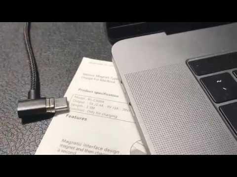 Baseus USB-C MacBook magnetic charging cable connection test.01