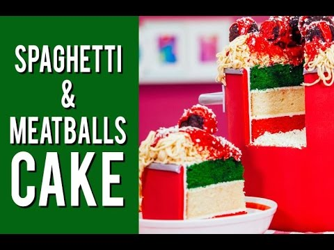 How to Make a Spaghetti and Meatballs Cake