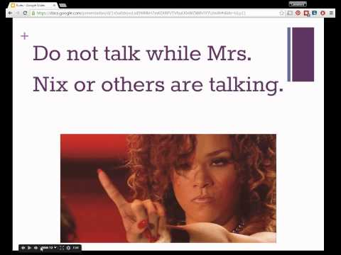Mrs. Nix's Classroom Rules (видео)