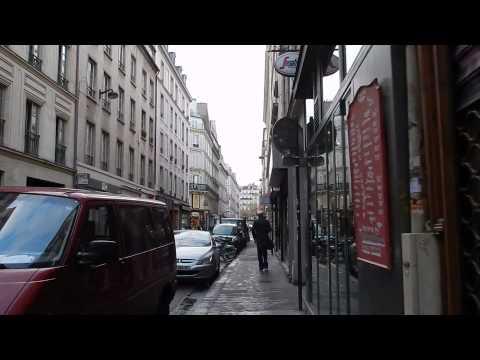Walking through Rue d'Hauteville Paris
