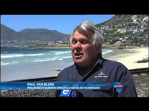 Kabel in Kaap getoets as afskrikmiddel vir haaie / Cable tested in Cape Town as shark deterrent
