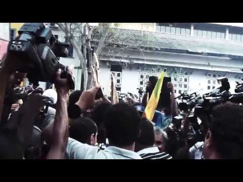 Muttiah Muralitharan's final over for Sri Lanka on home soil (2011)