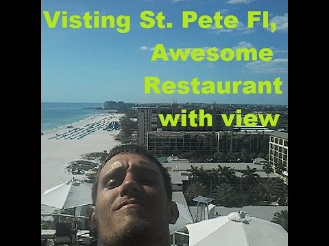 Visting St. Pete Beach Fl, Awesome Restaurant with a View, Blown Tire