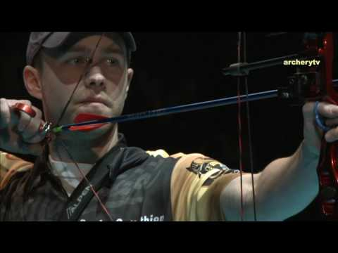 compound - Uncut Match of the 2010 European Tournament of archery in Nimes (FRA). Compound Men Ind. Gold BROADWATER Jesse (USA) vs GELLENTHIEN Braden (USA)