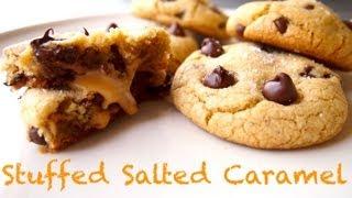 Stuffed Salted Caramel Cookies {Recipe} - YouTube
