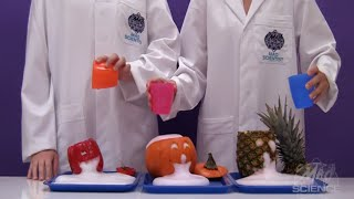 Spewing Jack-O'-Lantern Reaction With Mad Science