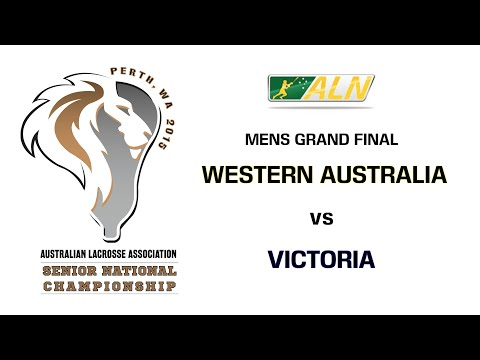 2015 ALA Senior National Lacrosse Championship Mens Final - Western Australia vs Victoria