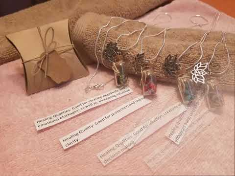 Healing Necklace Bottle Charm Collection