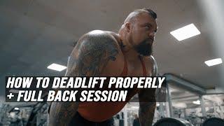 Video How To Deadlift Properly + Full Back Session MP3, 3GP, MP4, WEBM, AVI, FLV Juli 2019