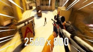 Using the most STRETCHED RESOLUTION on CSGO...