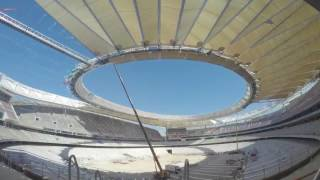 Time-lapse showing latest progress on Atlético de Madrid's Wanda Metropolitano